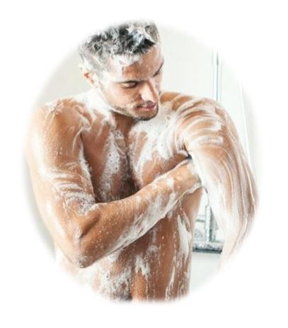 Esponja redonda cuerpo exfoliante para bañarse y formar espuma corporal