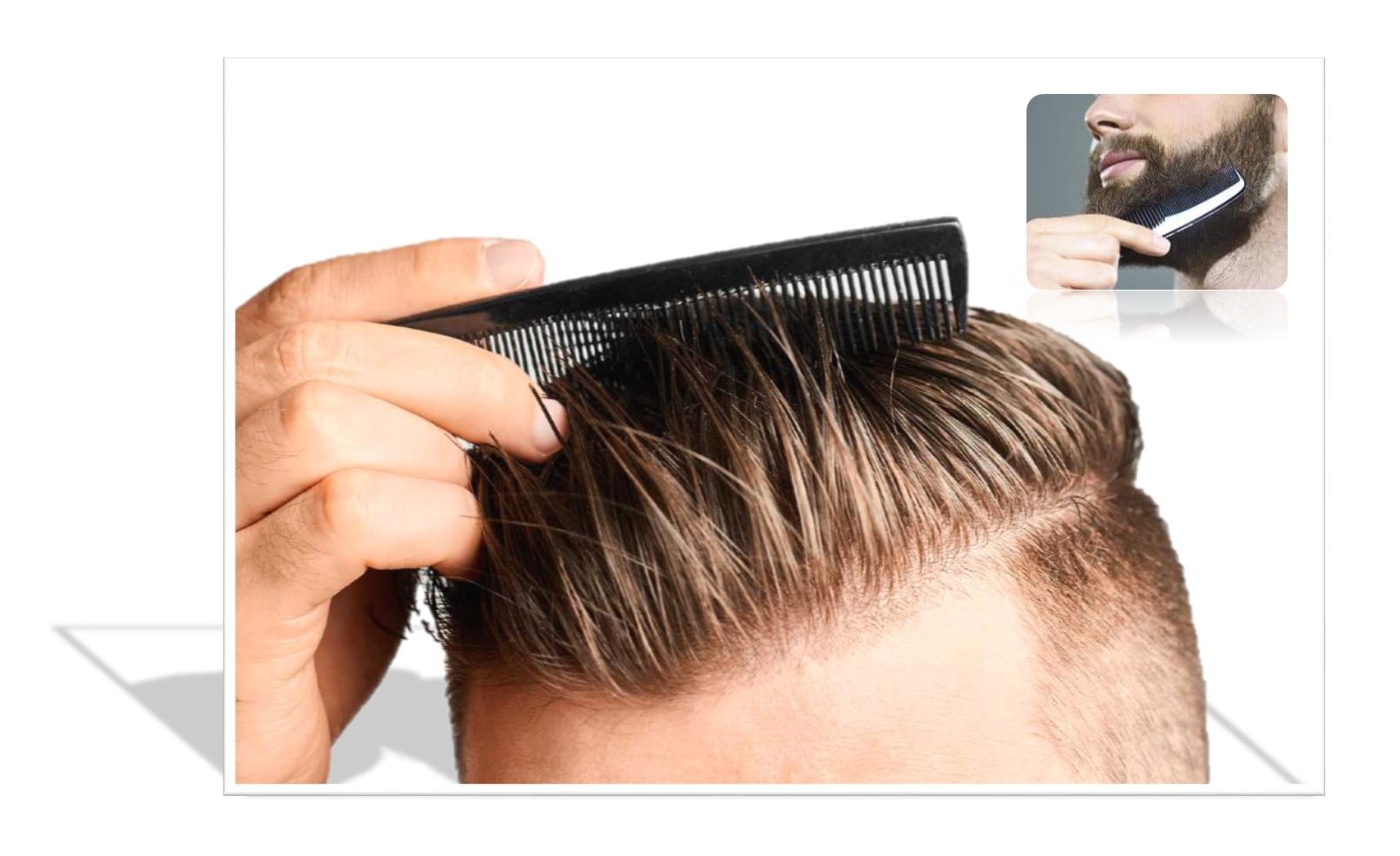 Peine cabello o pelo peineta negra cabeza y barba comprar