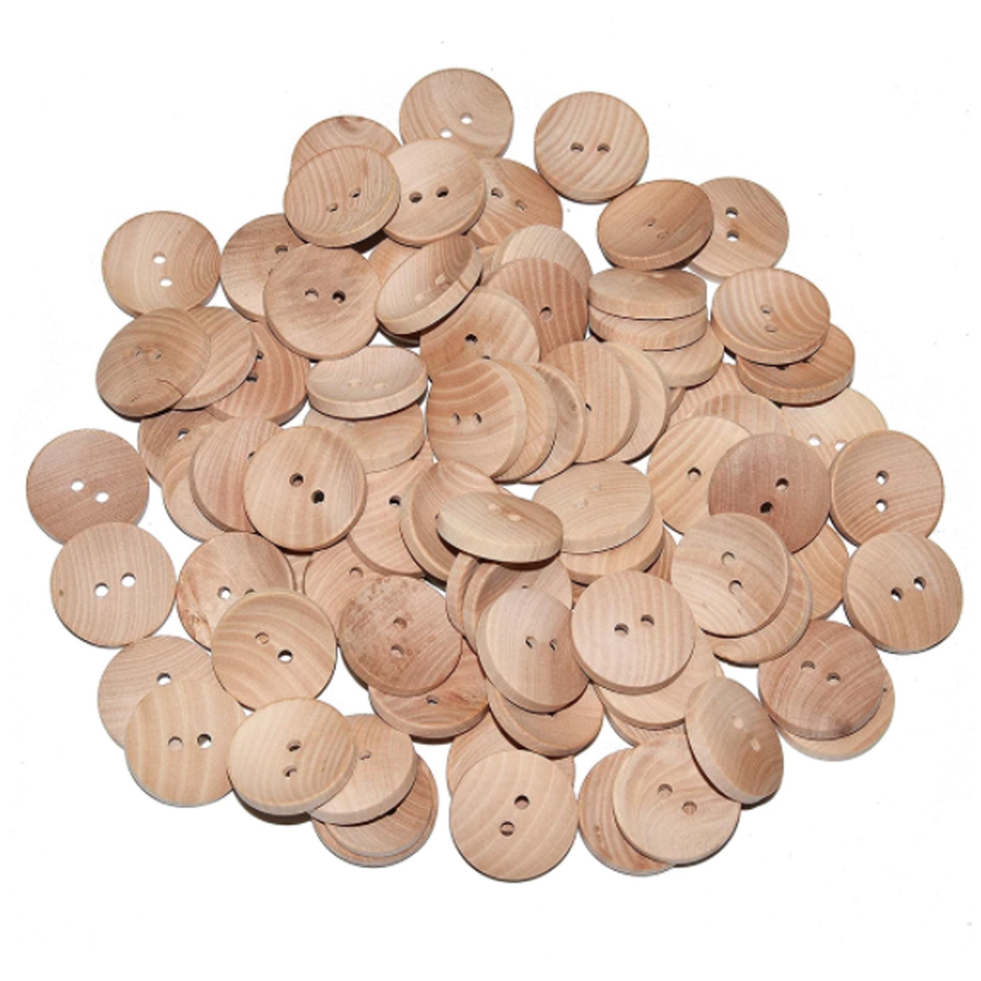 Botones Madera - Concavos