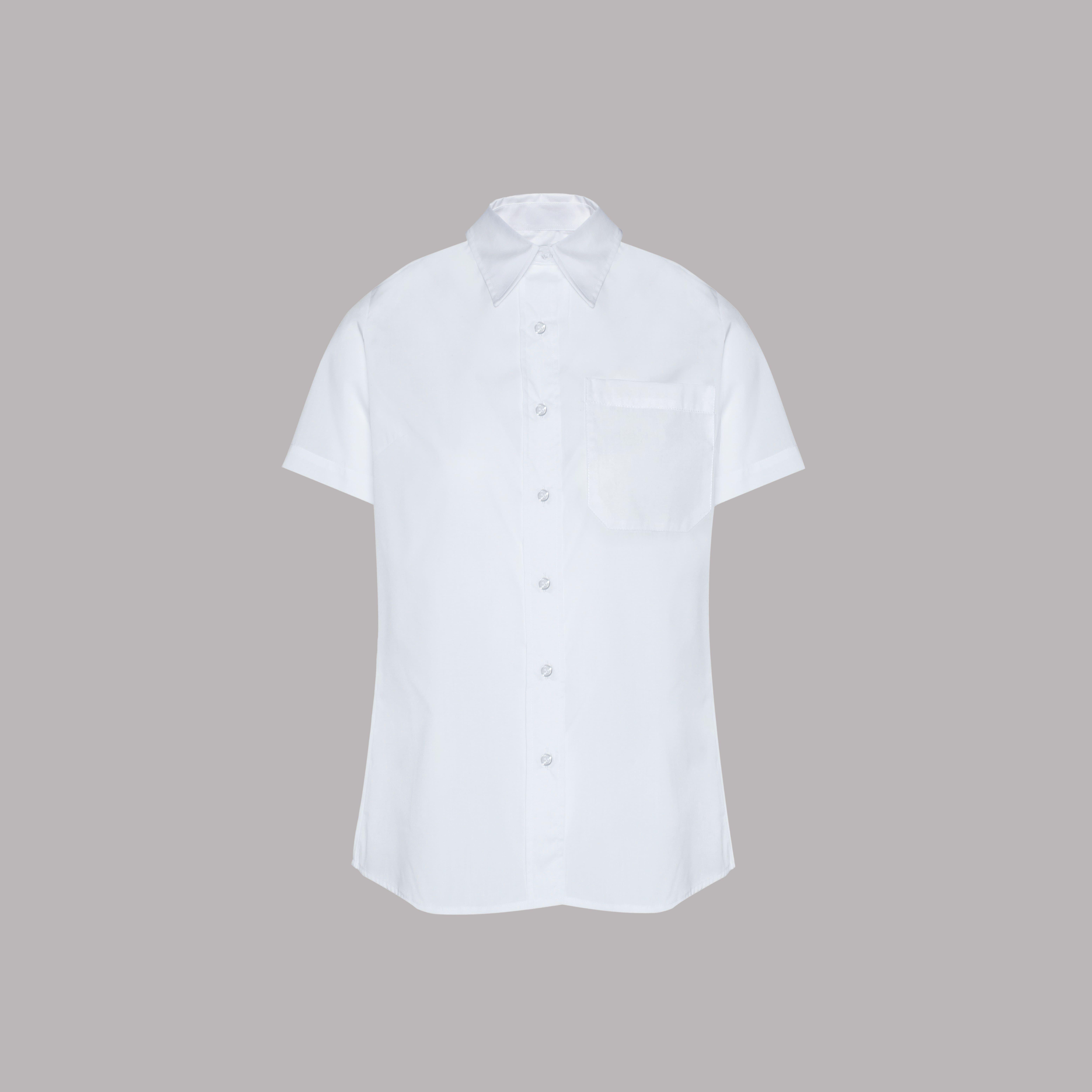 Camisa de Manga Curta de Senhora na cor Branca
