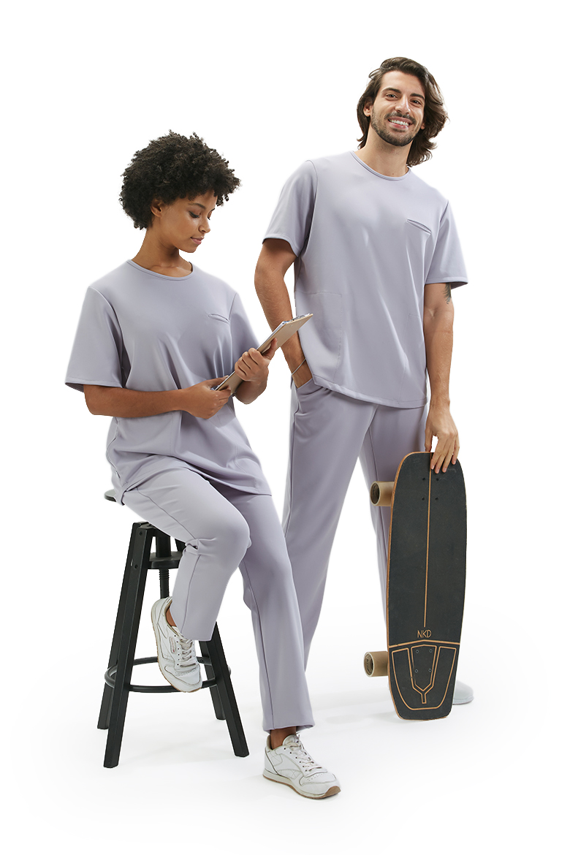 Calça Unissexo para Roupa Hospitalar | HISI Collection | Cinza Claro