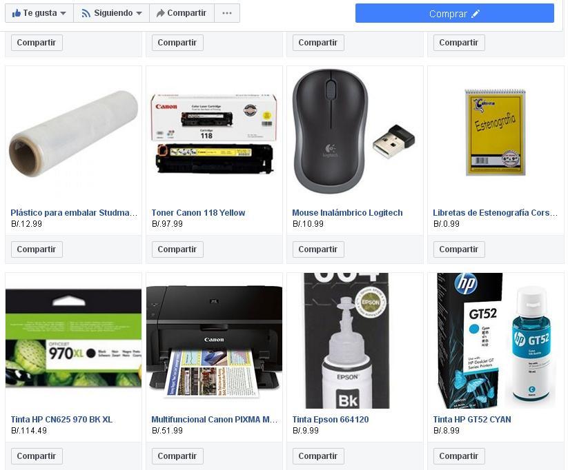 Hemos sincronizado nuestra tienda con Facebook