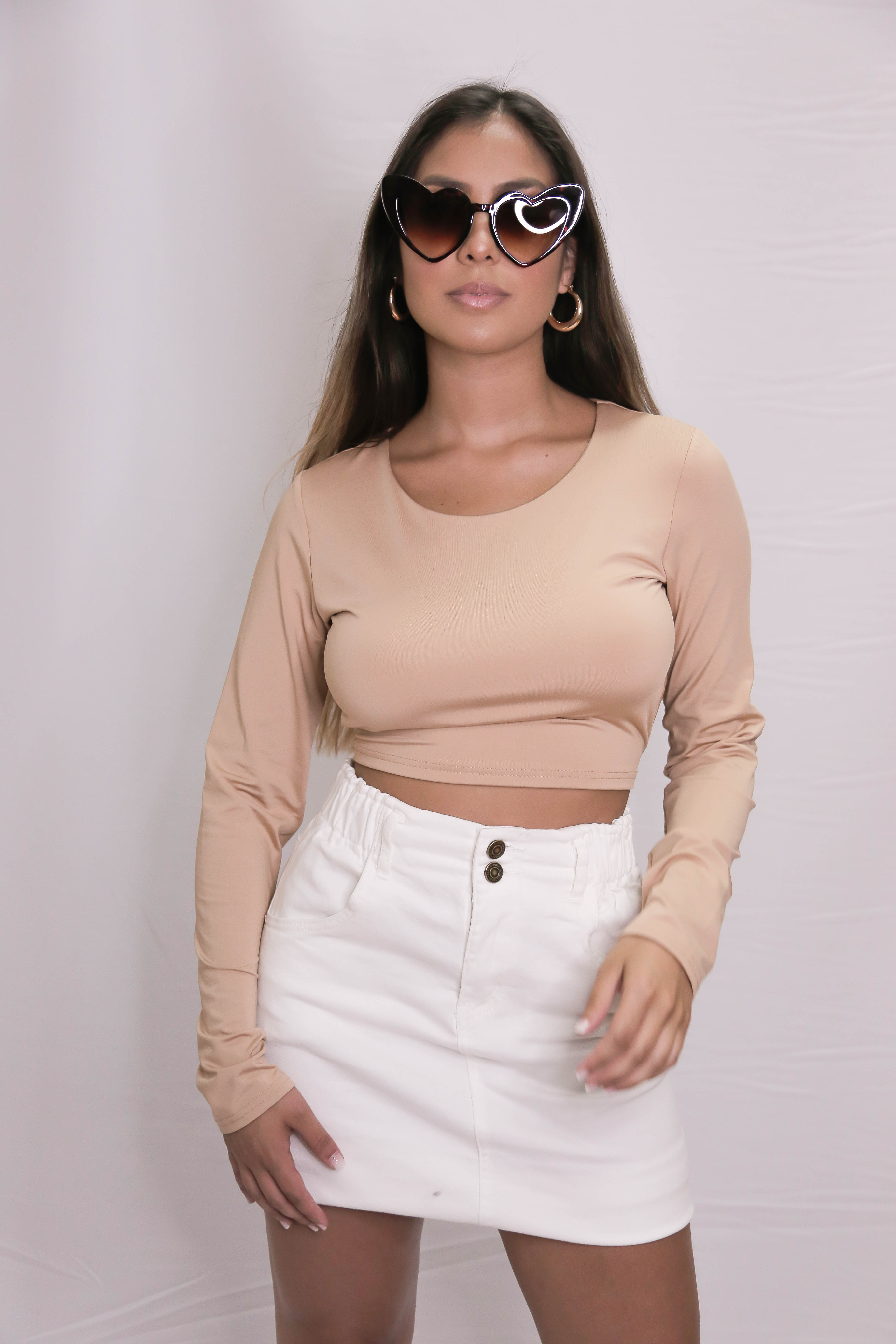 BRIDGERTON TOP BEIGE
