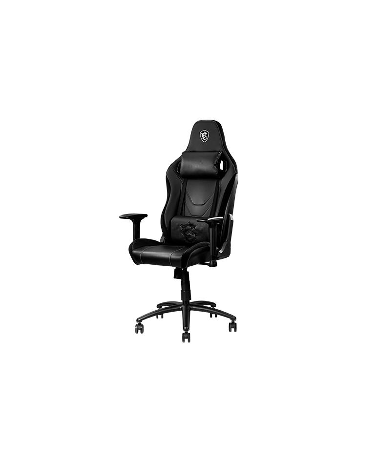 Silla Profesional Gamer MSI MAGCH130X Acero Carbono Black