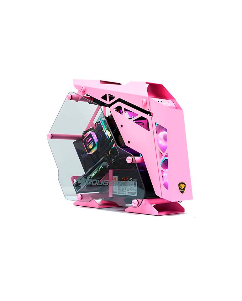 Gabinete Gamer Cougar Mini Conquer Pink