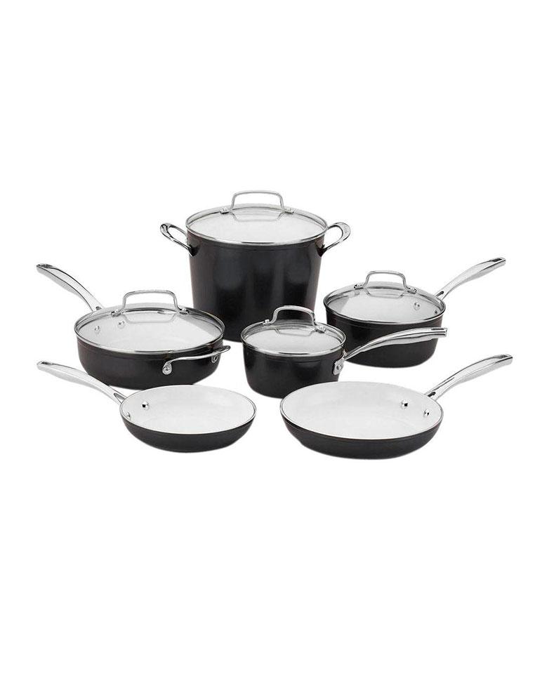 Batería De Cocina  De 10 Piezas 59i-10bk - Cuisinart