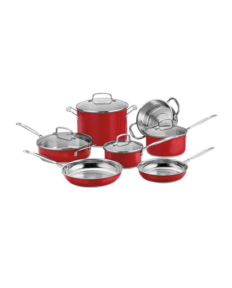 Batería Chef roja 11 piezas Css-11mr - Cuisinart
