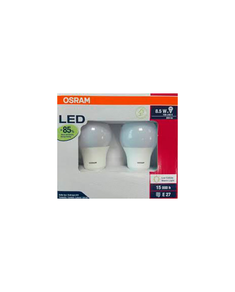 Pack 12 unidades ampolleta LED 8,5Watts - Osram