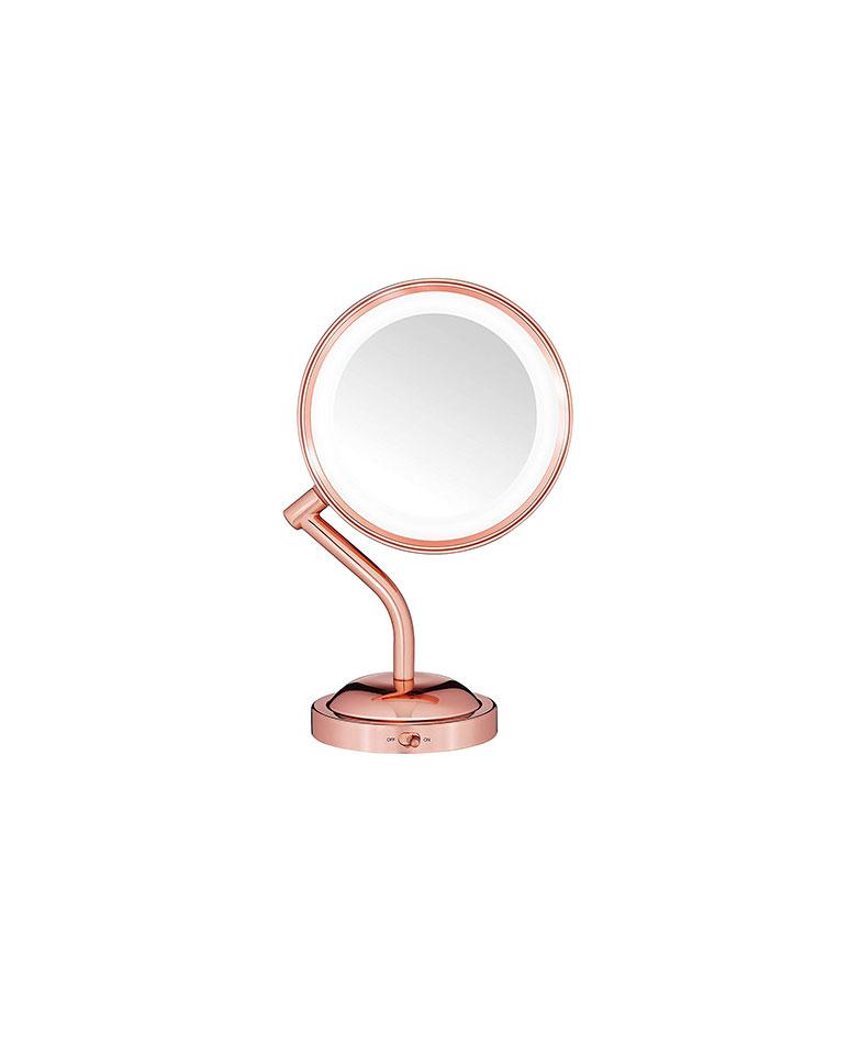 Espejo con luz LED Oro Rosa BE4SRG - Conair
