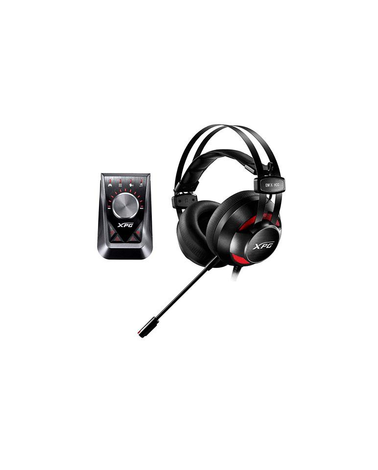 Audífono Gamer XPG ADATA EMIX H30 + Amplificador SoloX F30