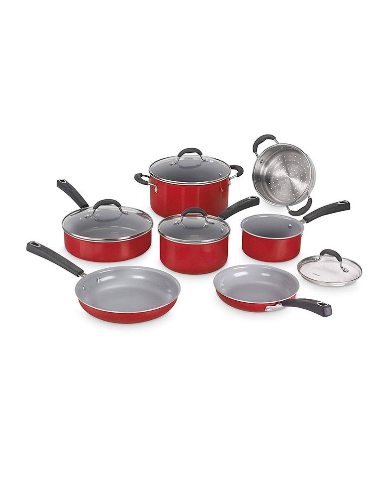 Batería de Cocina  Advantage Cerámica Rojo 54C-11R - Cuisinart