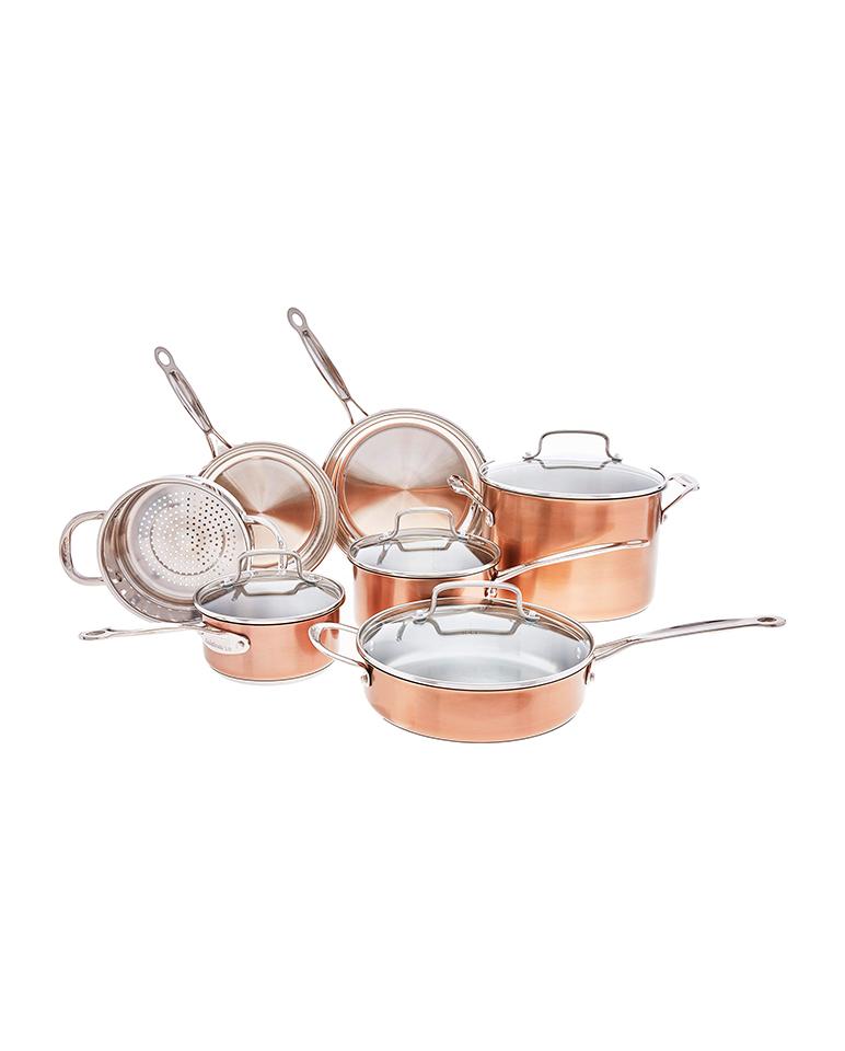 Batería de Cocina Cuisinart 11 piezas Cobre CSS-11BU