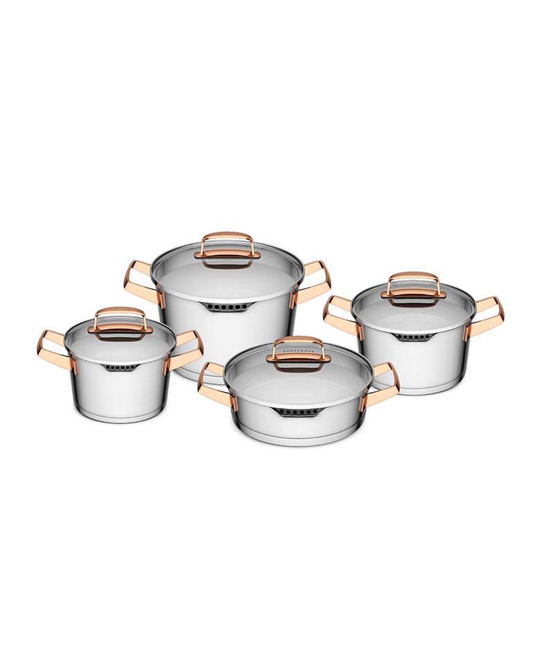 Bateria de Cocina Modelo Niza Cobre 8 pzs  Simple Cook