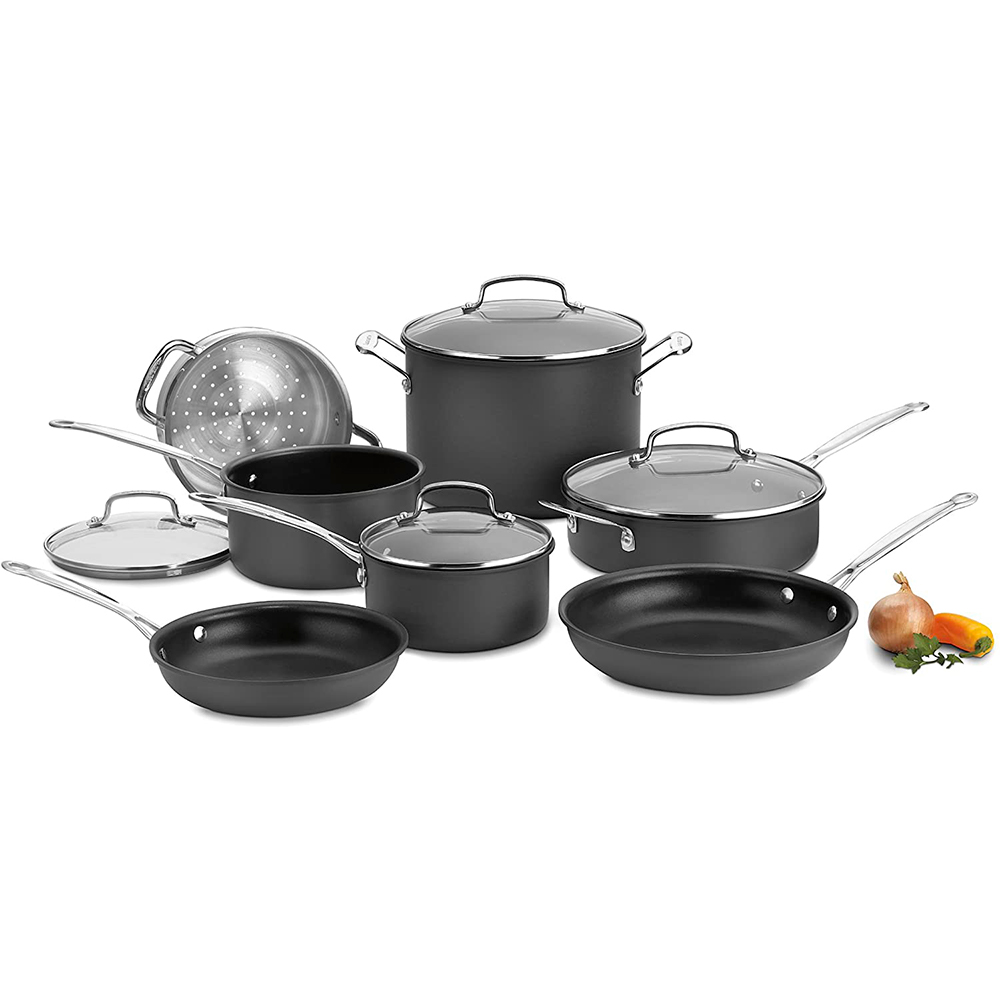 Batería de cocina Anodizado 11 Piezas Cuisinart 66-11  [SET INCOMPLETO]