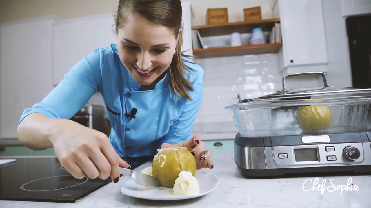 Prepara unas deliciosas manzanas asadas con la Vaporera de Cuisinart