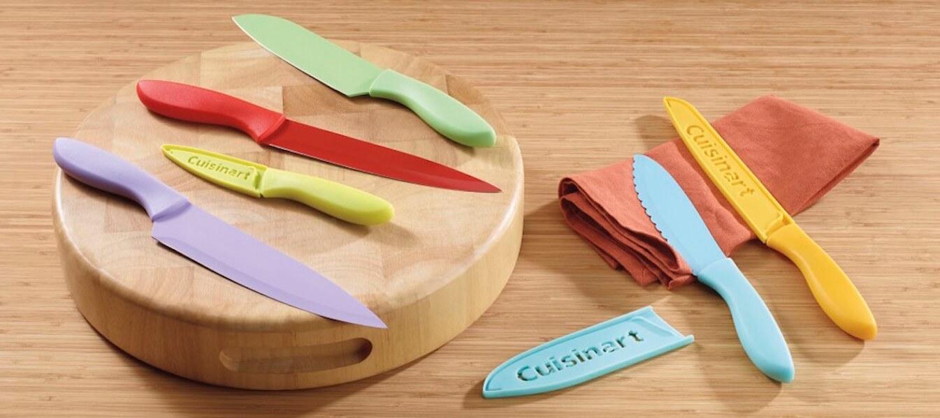 Llena de color tu cocina con el set de cuchillos de Cuisinart