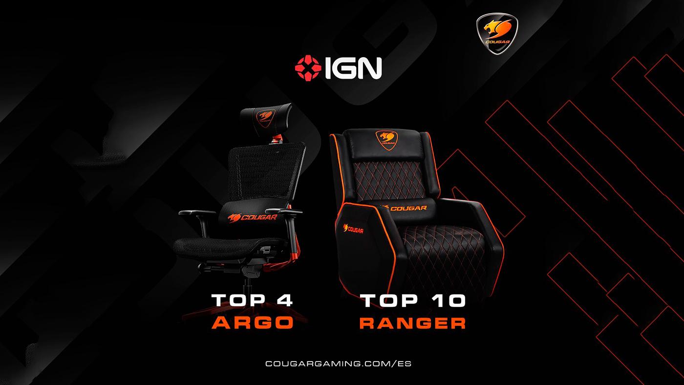 Las mejores sillas gamer del mercado según @igndotcom