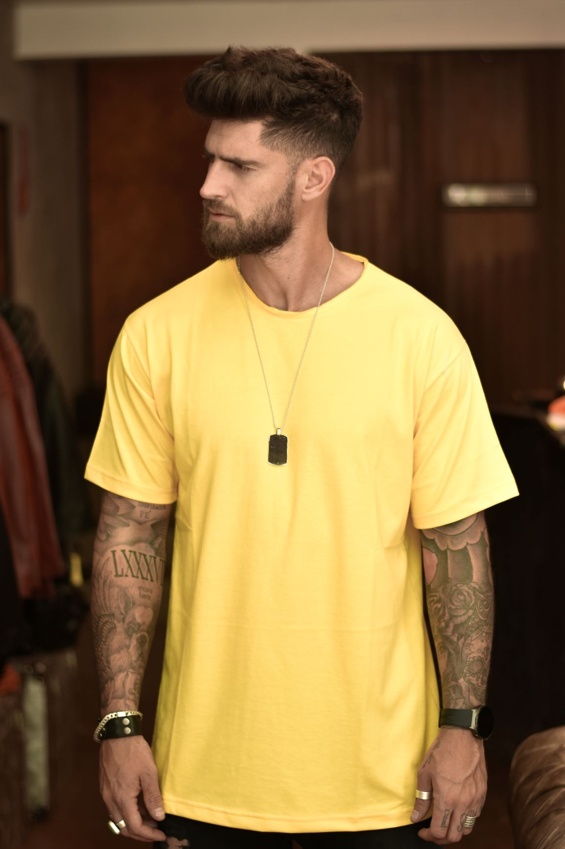 Polera Over Amarillo Patito