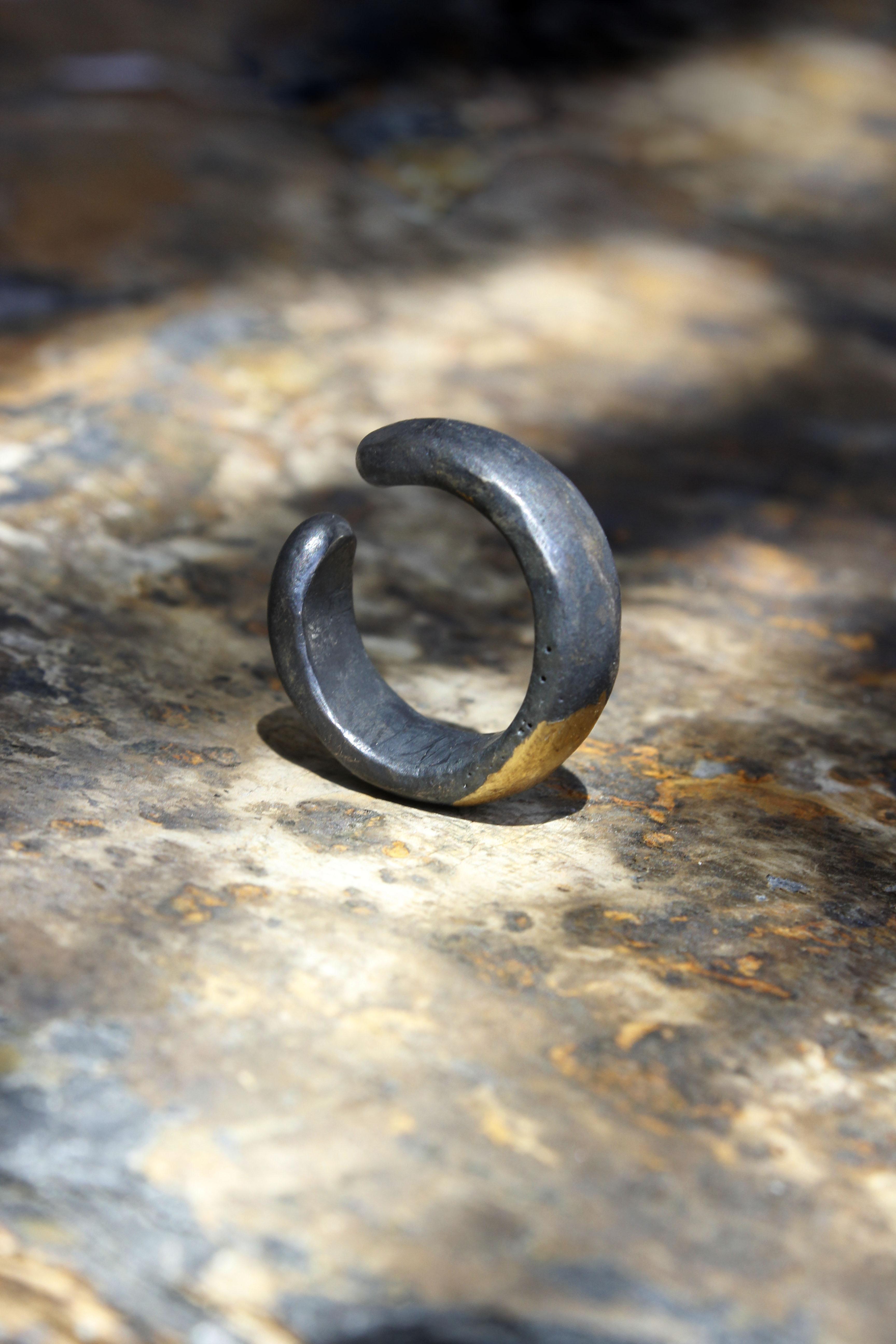 Silver and Pure Gold Origin Ring