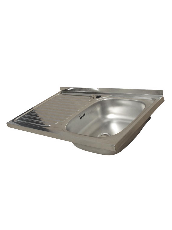 Lavaplatos Simple Sobreponer 80x50 Inoxidable Izquierdo