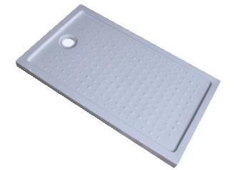 Receptáculo Plato de Ducha 120x70x9 cm Fibra de Vidrio y Acrílico