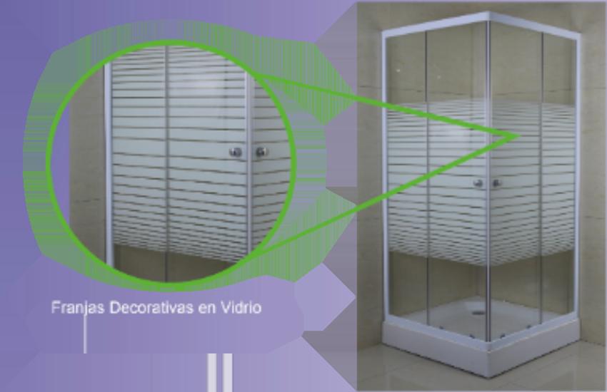 Shower Door Y Receptaculo Cuadrado 80x80x195 Empavonado Adhesivo