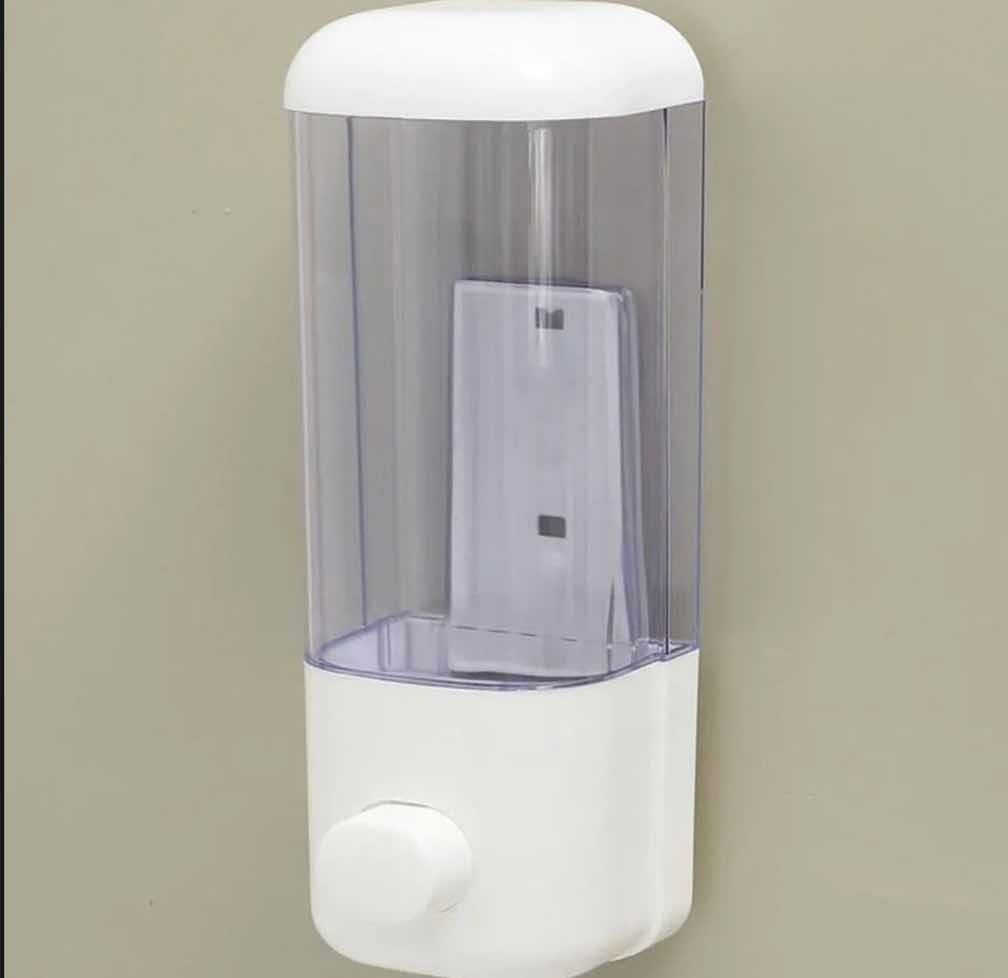 Dispensador De Jabon Blanco Simple 500cc
