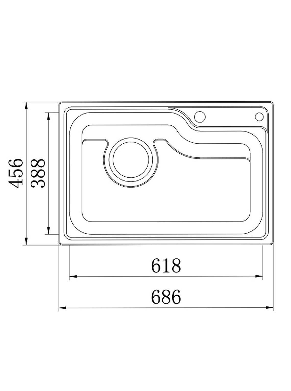 Pack Lavaplatos Simple Empotrable Ancho 686x456x21 cm Hamburg + Dispensador