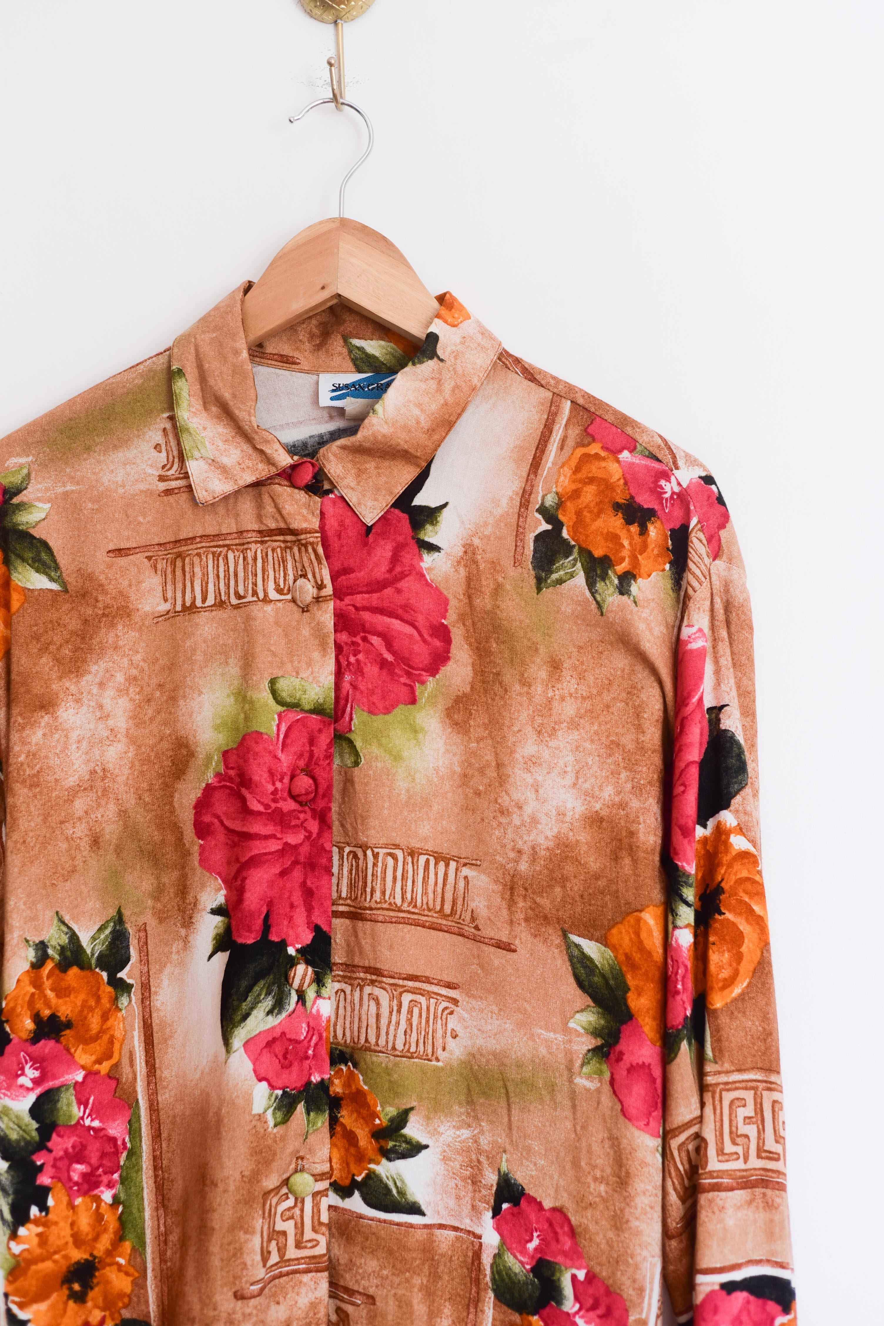 Blusa hawaiian flowers