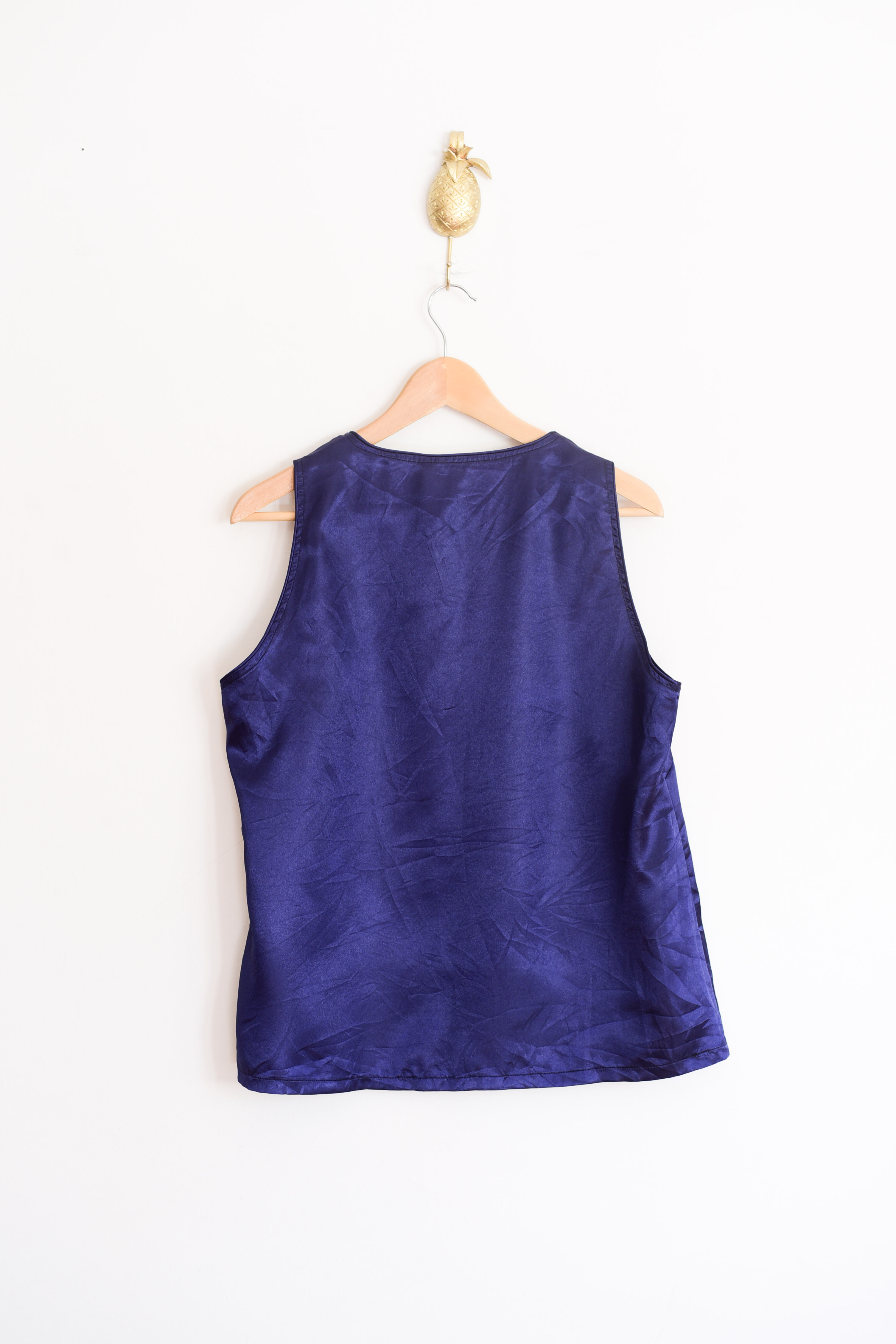 Top blue satin