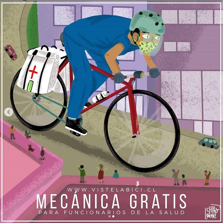 VLB y la Mecánica de Bicicletas Gratuita para Funcionarios de la Salud
