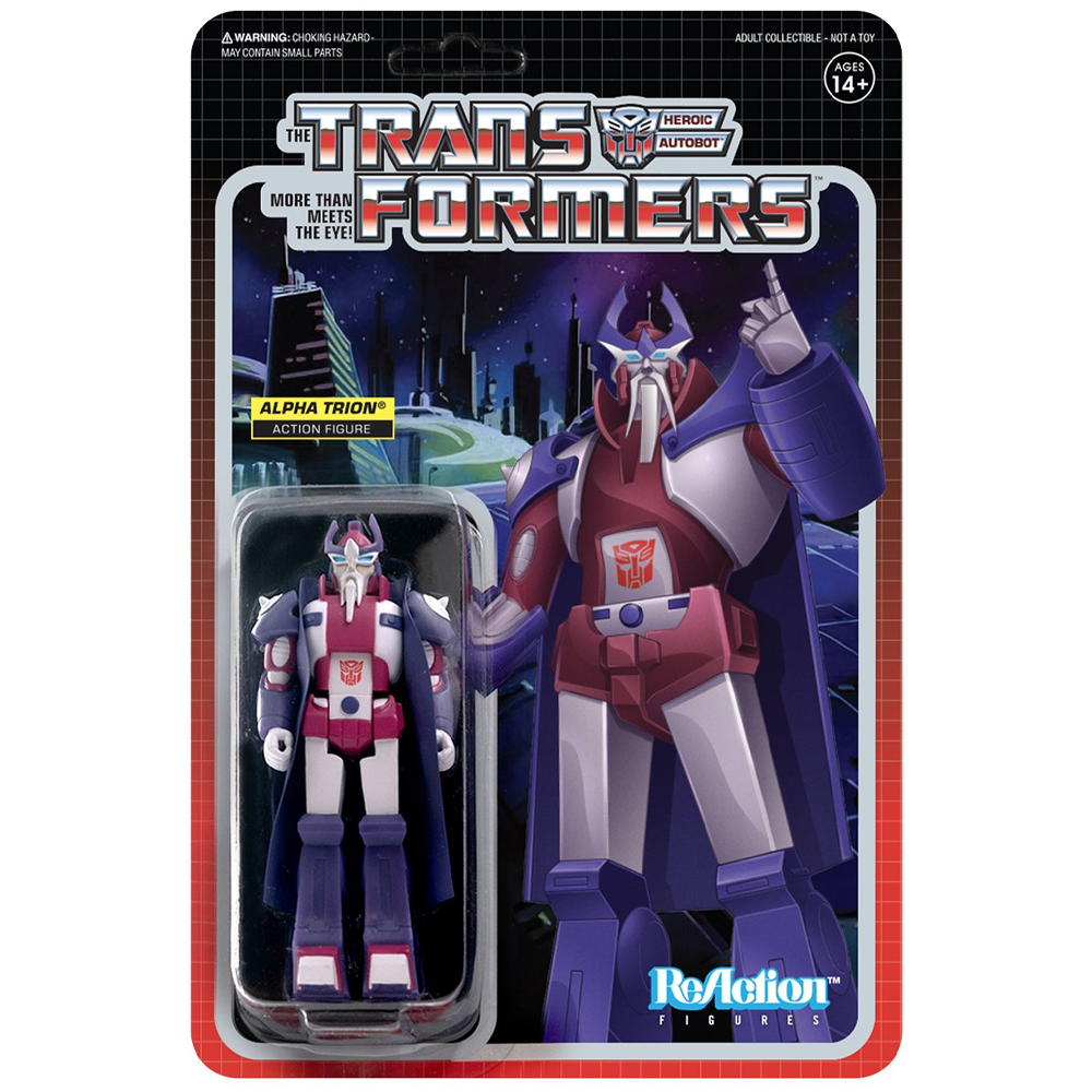 "Alpha Trion ""Transformers"", ReAction Figures"