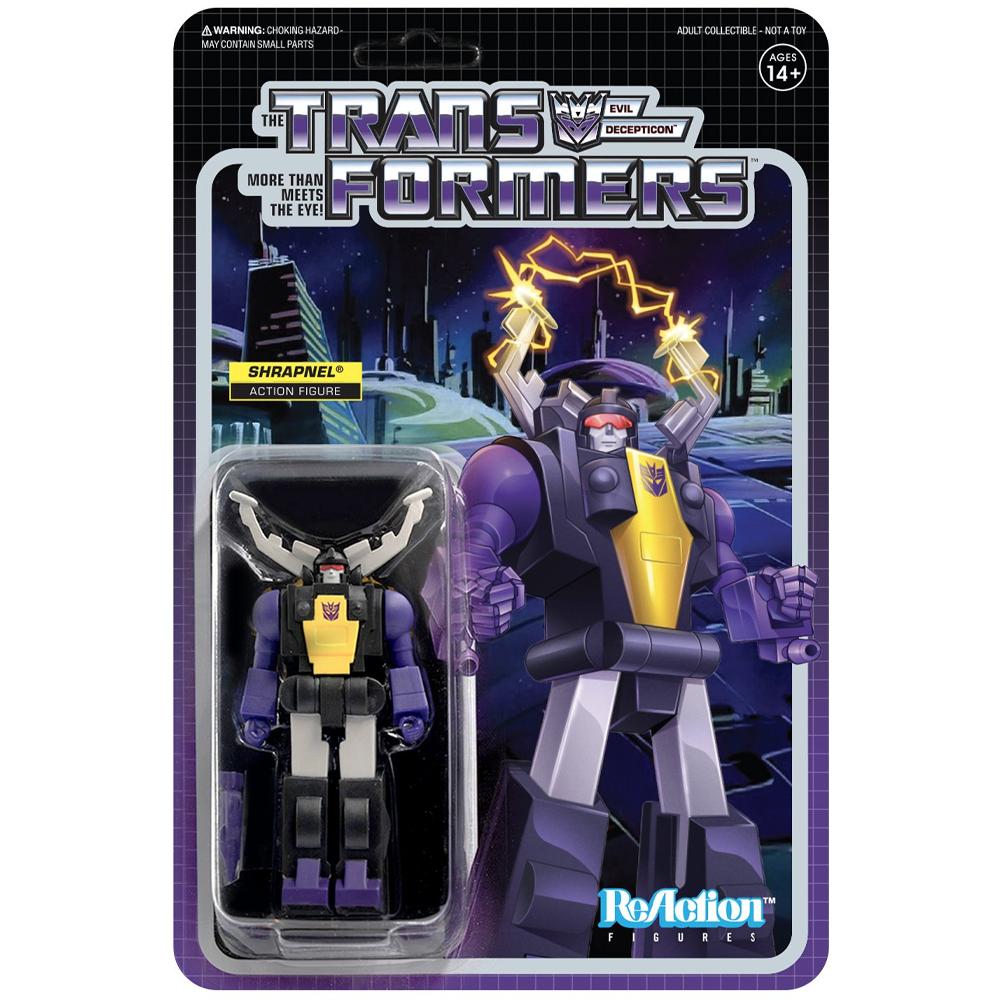 "Shrapnel ""Transformers"", ReAction Figures"