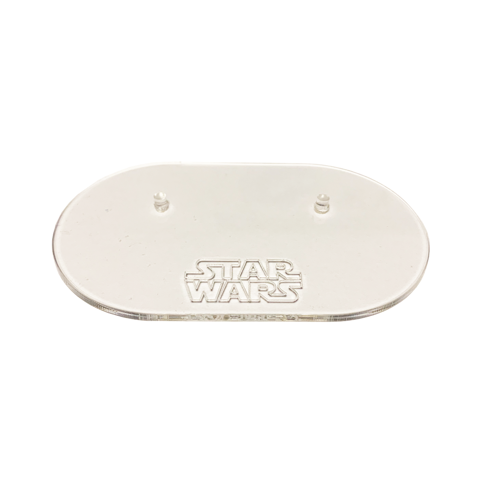 Base Acrílica 2 Pins (Sin Logo, Marvel, Star Wars), MyOwnDesign