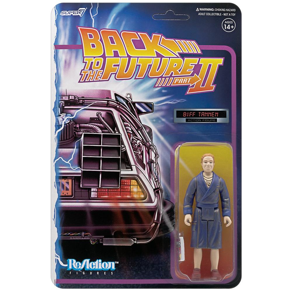 """Biff Tannen (Bathrobe) """"Back to the Future 2"""", ReAction Figures"""