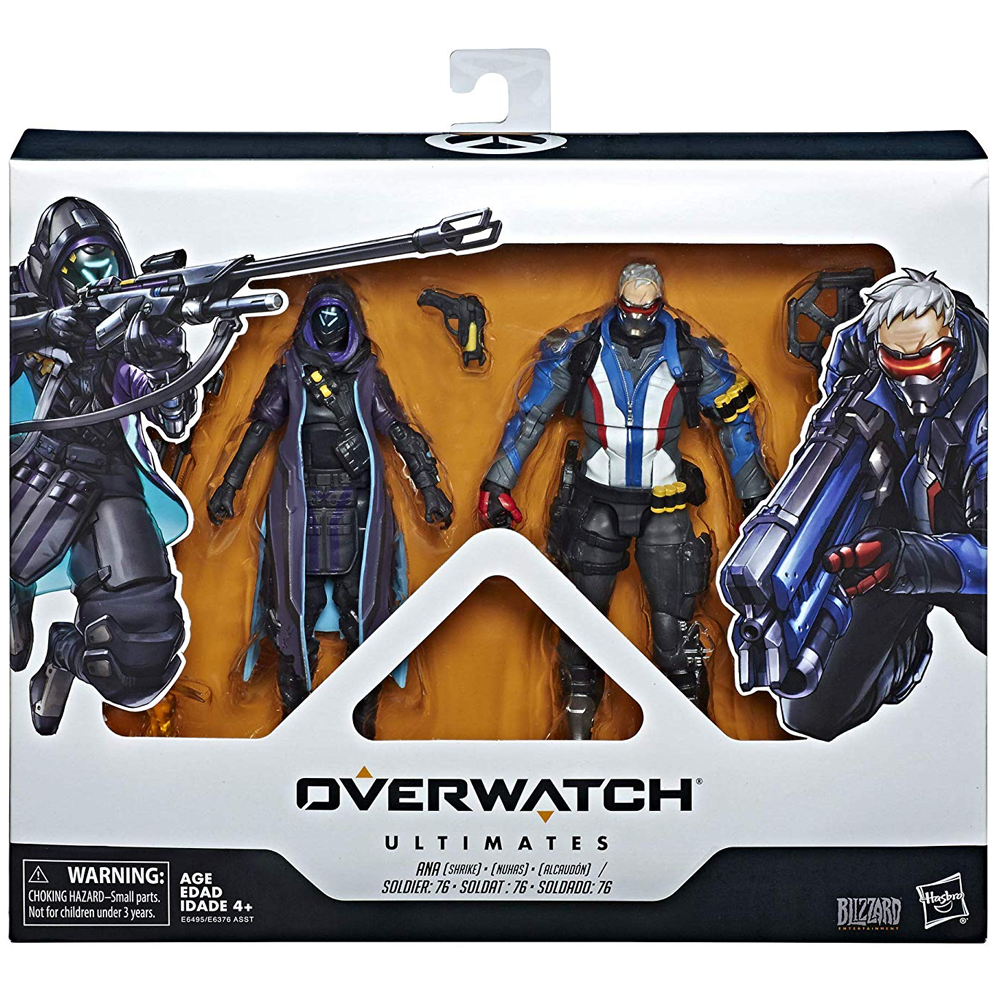 Ana (Shrike) & Soldier: 76 2-pack, Overwatch Ultimates