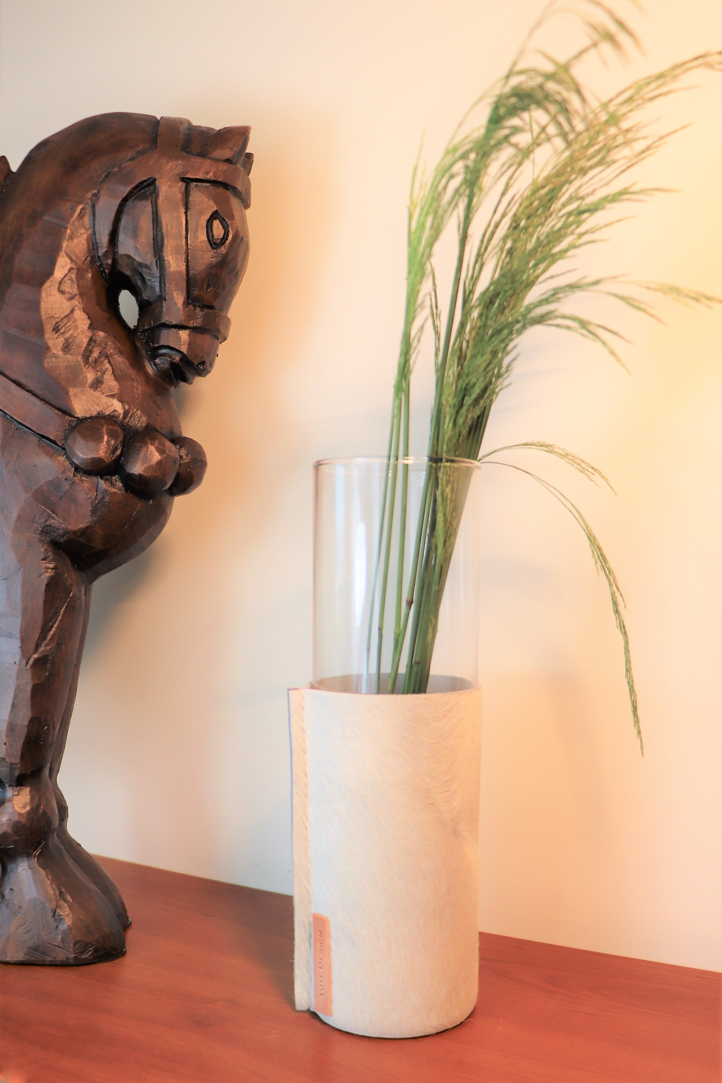 Nature - Leather and Glass Vase