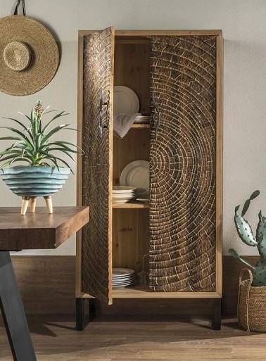 Maui - Engraved Wood Wardrobe