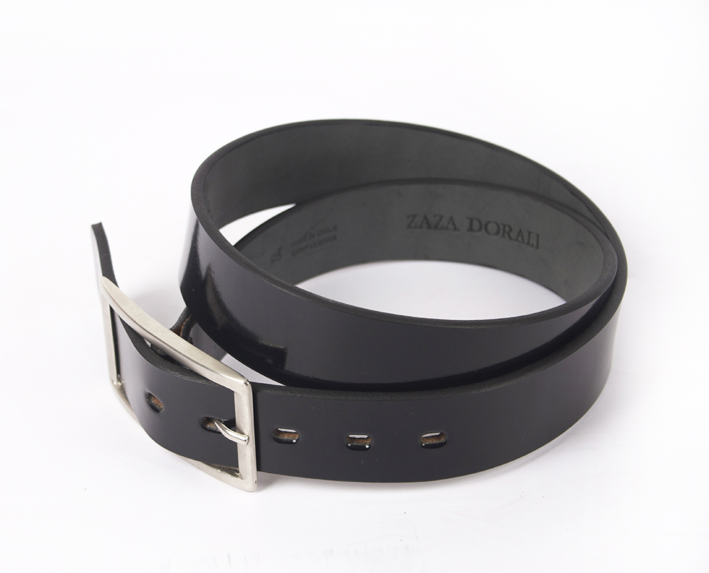 Cinturón Steel Negro Brillo Alto