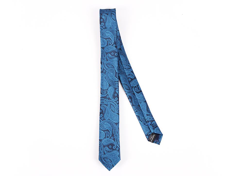 Corbata azul marino calabazas celestes