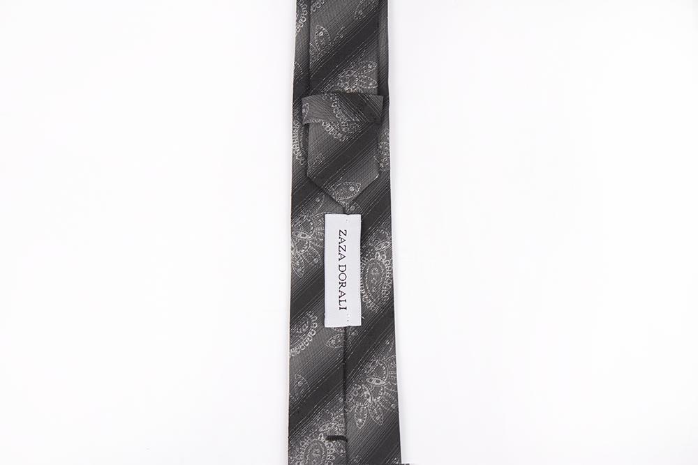 Corbata Gris calabazas y líneas