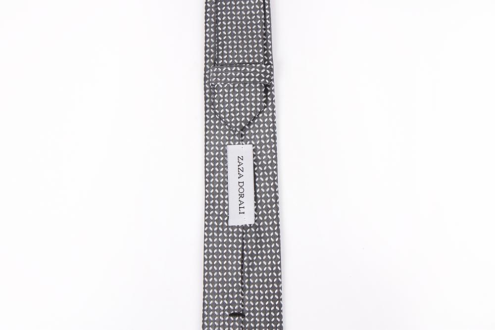 Corbata Gris cruces blancas
