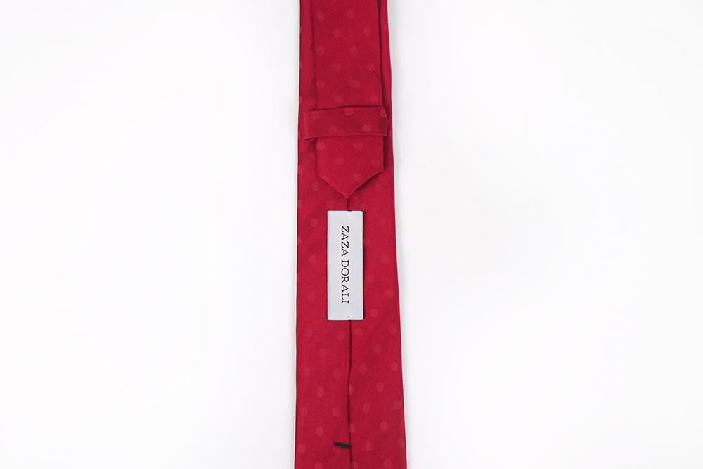 Corbata Rojo lunares rojos
