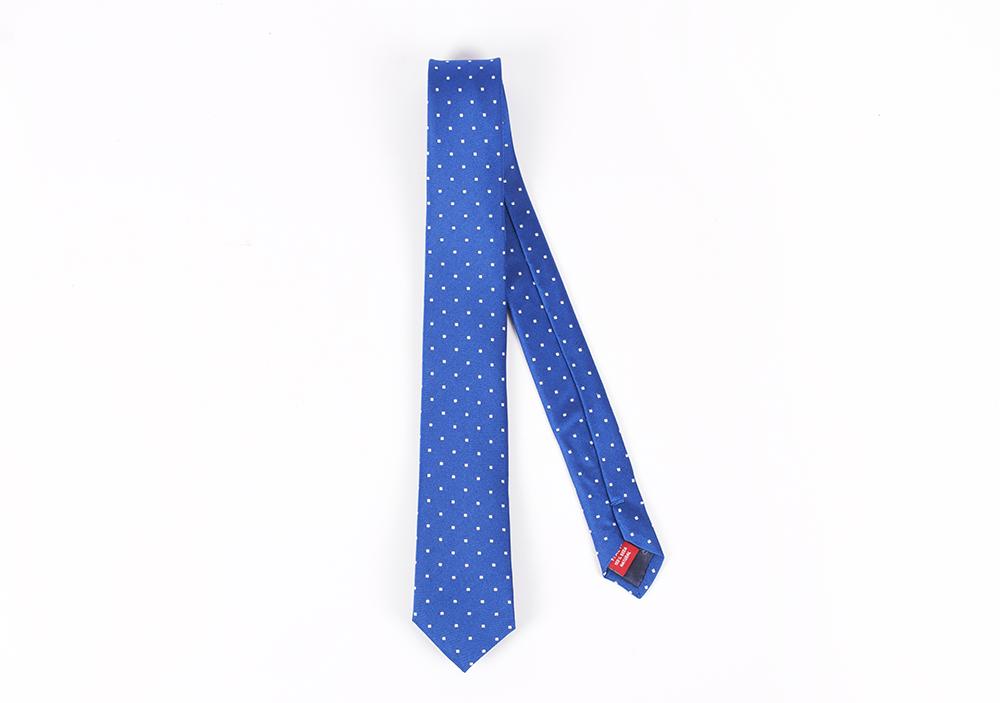 Corbata Azul francia puntos blancos