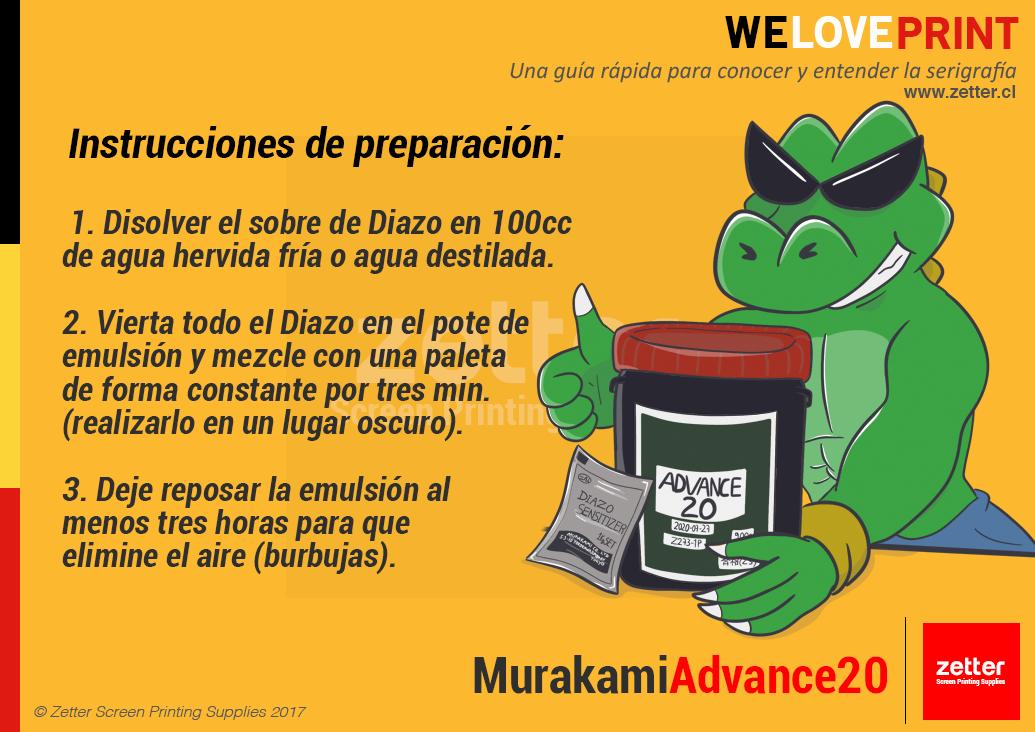 ¿Cómo preparar la emulsión Murakami Advance 20?
