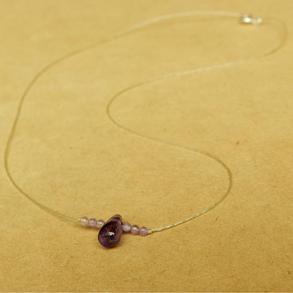 Collar Intuición- Amatista - Minimal