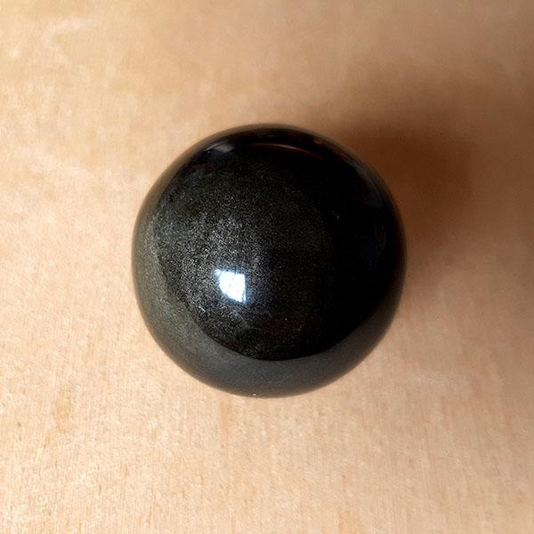 Esfera Obsidiana Dorada